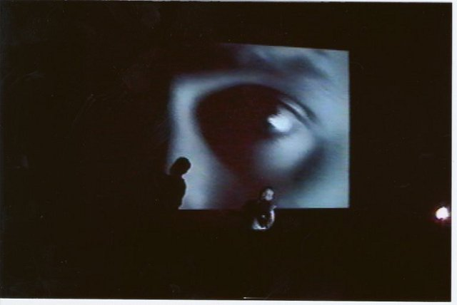 archival image from first workshop staging of THE BOOTH VARIATIONS. photo: Caridad Svich